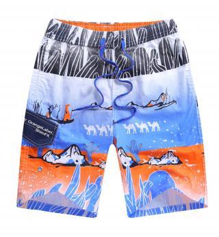Chlapecké plážové kraťasy s velbloudy - 2 barvy Barva: modrá, Velikost: 7
