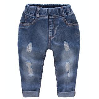 Chlapecké roztrhané džíny - Modré Velikost: 2