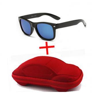 Chlapecké sluneční brýle s červeným pouzdrem - 4 barvy Barva: modrá