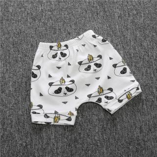 Chlapecké šortky s karikaturou Pandy - Bílé Velikost: 9-12 měsíců