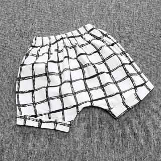 Chlapecké šortky s kostkami - Černo-bílé Velikost: 9-12 měsíců