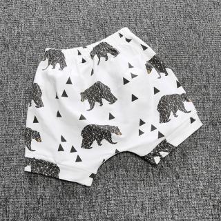 Chlapecké šortky s medvědy - Bílé Velikost: 9-12 měsíců