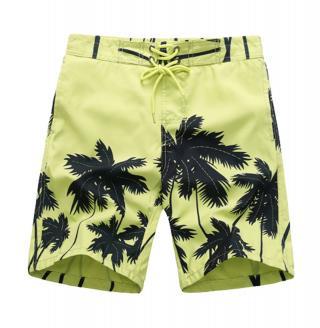 Chlapecké šortky s palmami - 2 barvy Barva: zelená, Velikost: 9
