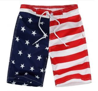 Chlapecké šortky s vlajkou USA - 2 barvy Barva: bílá, Velikost: 7