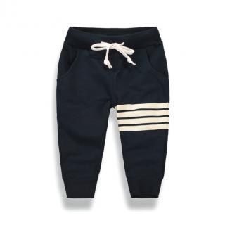 Chlapecké tepláky s pruhy na levé nohavici - 2 barvy Barva: černá, Velikost: 2