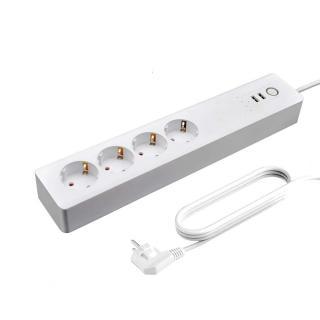 Chytrý prodlužovací přívod 4 zásuvky s USB K1107