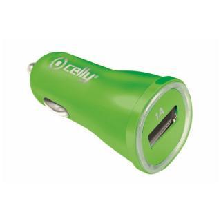 CL autonabíječka CELLY s USB výstupem 1A zelená