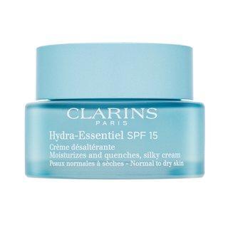 Clarins Hydra-Essentiel Silky Cream hydratační krém pro sjednocenou a rozjasněnou pleť 50 ml