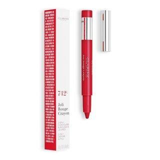 Clarins Joli Rouge Crayon 742C Joli Rouge konturovací tužka na rty 2v1 0,6 g