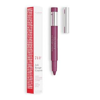 Clarins Joli Rouge Crayon 744C Plum konturovací tužka na rty 2v1 0,6 g