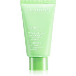 Clarins SOS Pure Rebalancing Clay Mask jílová maska pro smíšenou až mastnou pokožku 75 ml dámské 75 ml