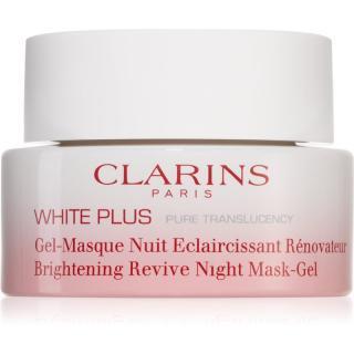 Clarins White Plus Pure Translucency Brightening Revive Night Mask-Gel rozjasňující noční maska 50 ml dámské 50 ml