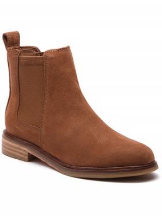 Clarks Kotníková obuv s elastickým prvkem Clarkdale Arlo 261380604 Hnědá dámské 37
