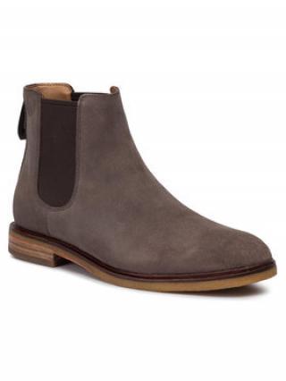 Clarks Kotníková obuv s elastickým prvkem Clarkdale Gobi 261447047 Šedá pánské 43