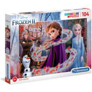 Clementoni 20162 - Puzzle Supercolor Glitter 104 Frozen 2