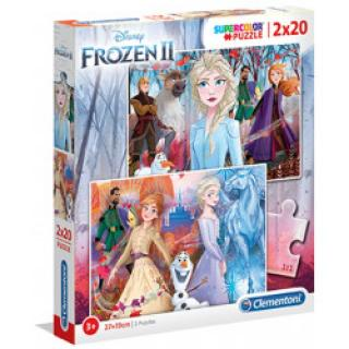 Clementoni 24759 - Puzzle Supercolor 2x20 Frozen 2