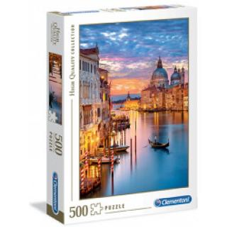 Clementoni 35056 - Puzzle 500 Osvětlení Benátek