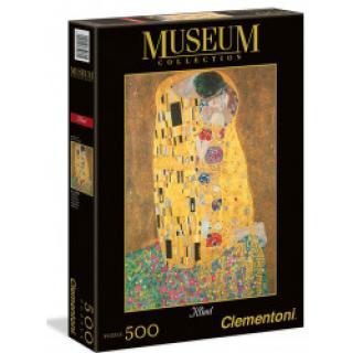Clementoni 35060 - Puzzle Museum 500 Klimt - Polibek