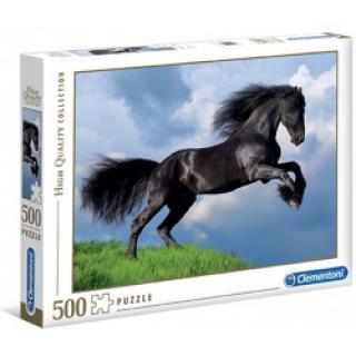 Clementoni 35071 - Puzzle 500 Černý kůň