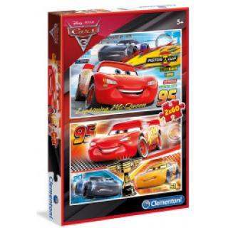 Clementoni 7131 - Puzzle Supercolor 2x60 Cars