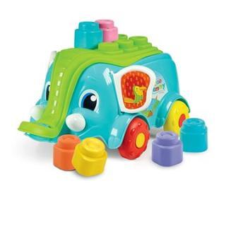 Clementoni Clemmy baby - Vozík slon s kostkami