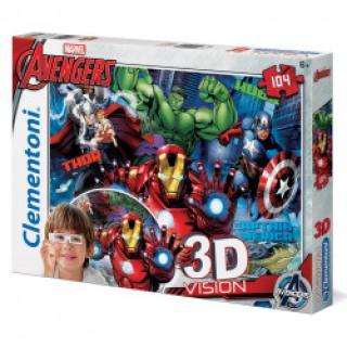 Clementoni - Puzzle 3D 104, Avengers
