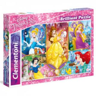 Clementoni - Puzzle Briliant 104, Princess