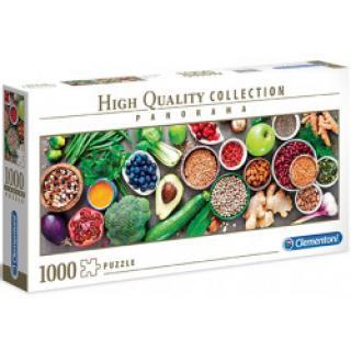 Clementoni - Puzzle Panorama Zdravý vegeterián 1000 dílků