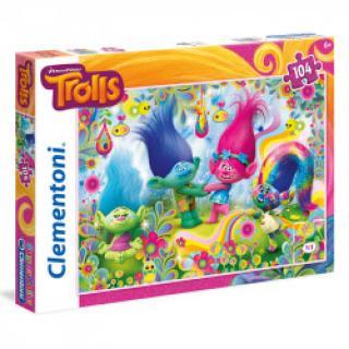 Clementoni - Puzzle SuperColor 104, Trolls