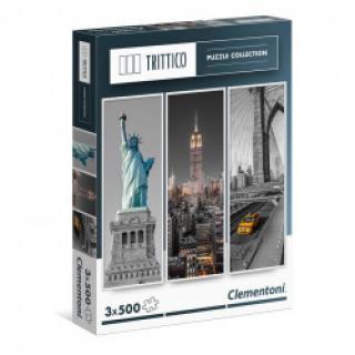 Clementoni - Puzzle Trittico 3x500, New York