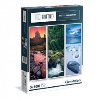 Clementoni - Puzzle Trittico 3x500, Příroda