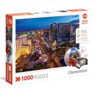Clementoni - Puzzle VR 1000, Las Vegas