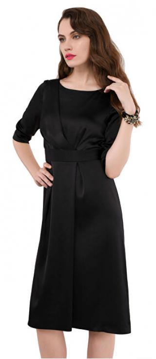 Closet London Dámské šaty Closet A-line Pleated Dress Black XL dámské