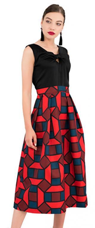 Closet London Dámské šaty Closet Gold 2-In-1 Full Skirt Dress Navy M dámské