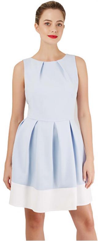Closet London Dámské šaty Closet Hackney Dress Light Blue/White XL dámské