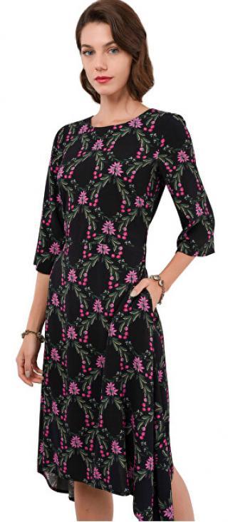 Closet London Dámské šaty Closet Hanky Hem Dress With Tie Black S dámské