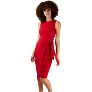 Closet London Dámské šaty Closet Tie V-Back Pencil Dress Red XL dámské