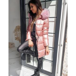 Coat / Womens winter jacket MERINGO pink TY1471 dámské Neurčeno L