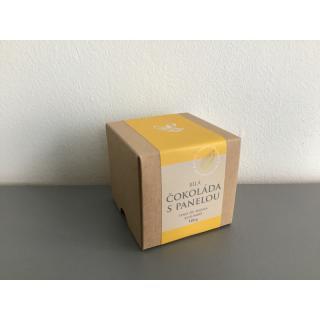Čokoládové penízky v krabičce - bílá čokoláda s panelou