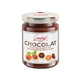 Čokoládový krém s červenými pomeranči ze Sicilie