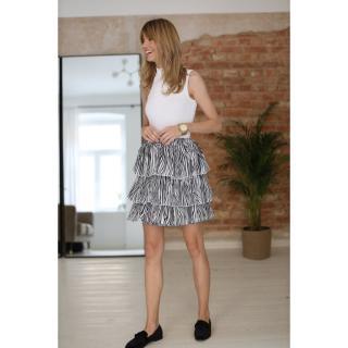 Colour Mist Womans Skirt B330 dámské Zebra Print XS