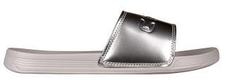 Coqui Dámské pantofle Sana Khaki Grey/Silver 6343-100-4699 41 dámské