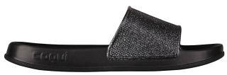 Coqui Dámské pantofle Tora Black/Silver Glitter 7082-301-2200 36 dámské