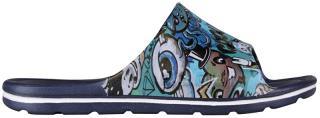 Coqui Dětské pantofle Long Printed Navy 6375-223-2100 28-29