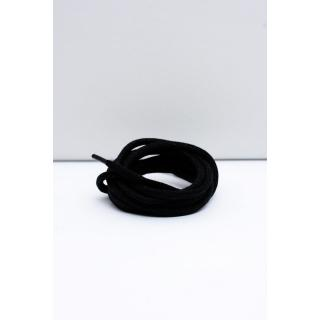Corbby Black Waxed Thick Shoelaces Neurčeno 100 cm