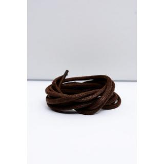 Corbby Brown Waxed Thick Shoelaces Neurčeno 100 cm