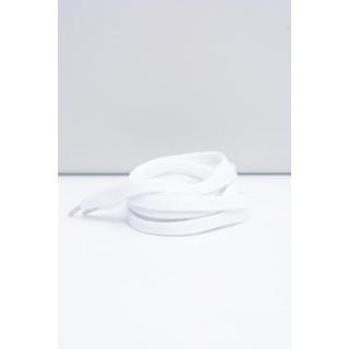 Corbby White Flat Shoelaces Neurčeno 100 cm