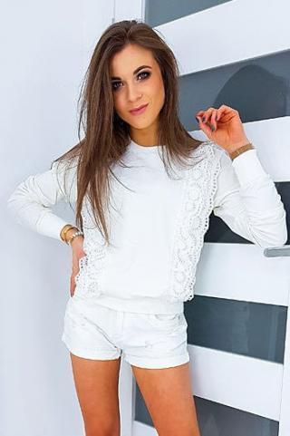 CORMIN ecru womens sweatshirt BY0340 dámské Neurčeno One size
