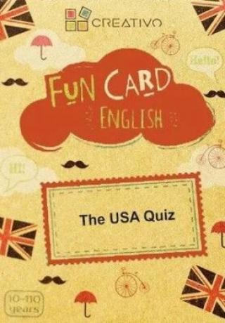 Creativo - Fun card English The USA Quiz