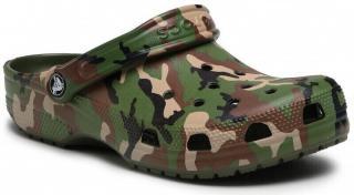 Crocs Classic Printed Camo Clog Army Green/Multi 46-47 pánské 46